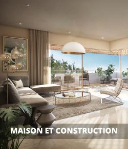 Maison, lumières et construction