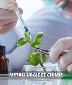 Métallurgie, produits chimiques, caoutchouc et plastiques