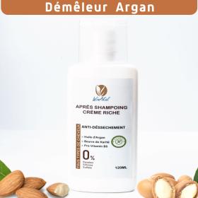 crème après shampoing demeleur naturel argan